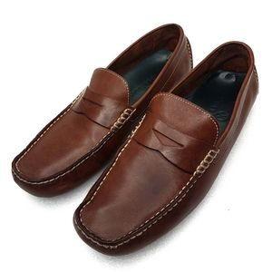 Cole Haan Brown Leather Howland Penny Loafers 10.5